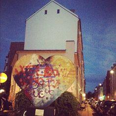 Street art in Copenhagen. #allgoodthings #danish spotted by @missdesignsays