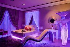Neon room - 46 best teen bedroom ideas for girl and boys 2019 35 Neon Bedroom, Modern Bedroom, Awesome Bedrooms, Cool Rooms, Dream Rooms, Dream Bedroom, Girl Bedroom Designs, Bedroom Ideas, Purple Bedroom Design