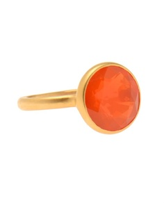 Marie Helene de Taillac Opal de Feu and 22k Gold Ring