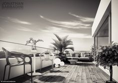 Feel like vacation. Work in progress. 3d Visualization, Real Estate Agency, Cinema 4d, Attic, Lightroom, Terrace, 3 D, Relax, Vacation