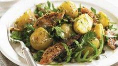 Recept: aardappelsalade met witte bonen, rucola en gerookte makreel
