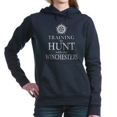 """""""Training to Hunt with the Winchester's"""" sweat shirt. """"Supernatural"""" themed sweat shirts and more. Supernatural Fashion, Supernatural Merchandise, Supernatural Outfits, Supernatural Shirt, Marvel Clothes, Family Business, Sweat Shirt, Look Cool, Clothing Items"""