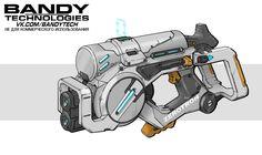 Sci Fi Weapons, Weapon Concept Art, Fantasy Weapons, Weapons Guns, Mode Cyberpunk, Borderlands Art, Steampunk Gun, Futuristic Armour, Future Weapons