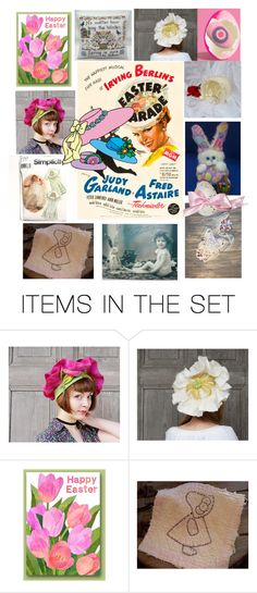 """""""In Your Easter Bonnet"""" by thesandlappershop ❤ liked on Polyvore featuring art and CTEtsy"""