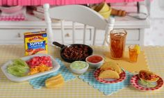 Miniature Making Tacos Set by CuteinMiniature on Etsy