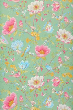 Luna   Floral wallpaper   Wallpaper patterns   Wallpaper from the 70s
