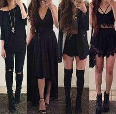 Going out dress party outfits going out outfits fashion style Teen Fashion Outfits, Edgy Outfits, Mode Outfits, Cute Casual Outfits, Outfits For Teens, Dress Outfits, Fall Outfits, Girl Fashion, Womens Fashion