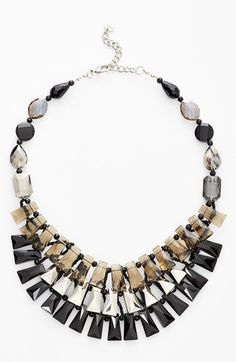 Women's Nakamol Design Tiered Crystal Bib Necklace