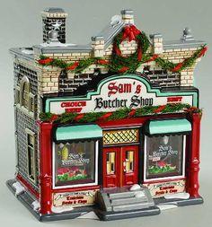 Sam's Butcher Shop, Original Snow Village (#2370)