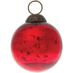 Mercury Glass Ornament (Classic Ball Design, 2 Inches, Red) -... (£2.67) ❤ liked on Polyvore featuring home, home decor, holiday decorations, christmas tree ball ornaments, red christmas ball ornaments, red christmas ornaments, vintage style home decor and vintage style christmas ornaments