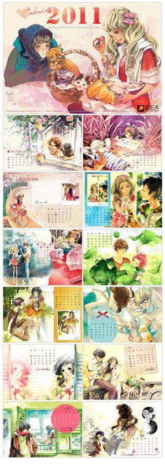 20$ freeship calendar2011 by tuyetdinhsinhvat.deviantart.com on @deviantART
