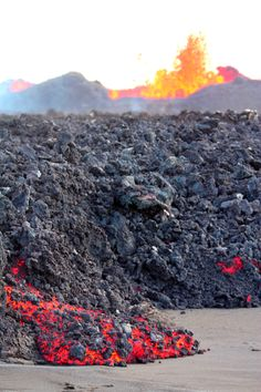 The lava from the eruption at Holuhraun is flowing at a rate of approximately 100 meters per hour. It now covers 18.6 square km (7 square miles), an area larger than Hafnarfjörður, a town outside Reykjavík.