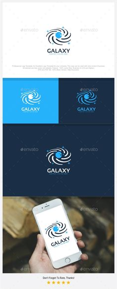 Galaxy Logo by putracetol Professional Logo Design Template.Professional Logo Design Template, An Excellent Logo Template for your Company. The Logo can be