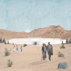 Landscape Architecture, Thesis, Cemetery, Collages, Facade, Presentation, Pastel, Photoshop, Scene