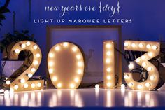 DIY: easy new year marquee numbers