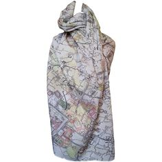 Old town Tehran map scarf white ($65) ❤ liked on Polyvore featuring accessories, scarves, white scarves, white cotton shawl, cotton shawl, white cotton scarves and cotton scarves