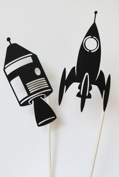 Rocket Shadow Puppets 2 Pack by nikinut on Etsy, $7.00