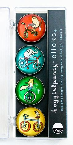 Bike Magnet Set by susie ghahremani / shop.boygirlparty.com