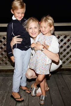 Actress Kelly Rutherford with her two kids