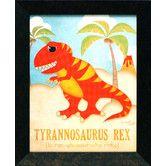 Found it at Wayfair - Artistic Reflections Tyrannosaurus Framed Art