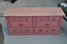 And finally the top in pink faux marble