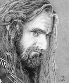 Thorin Oakenshield (as portrayed by Richard Armitage) pencil drawing image by Darkjackal.