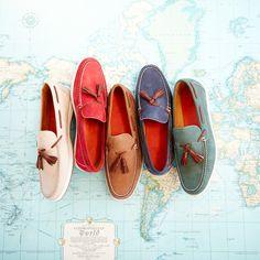 Nubuck Tassel Boat Shoes | Spring 2015