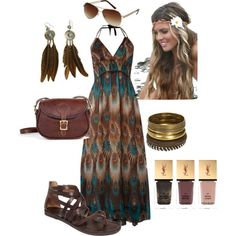 summer boho outfit.