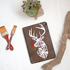 Rudolph Christmas Wood Sign