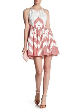 Image of plenty by TRACY REESE Halter Neck Print Dress