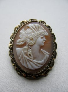 Edwardian Carved Shell Cameo Goddess Ceres by victoriansentiments, $40.00