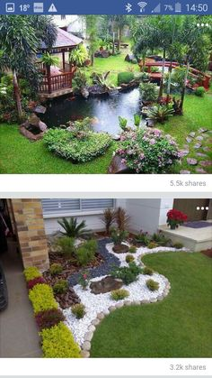 Take a look at this essential image, as well as the information offered … – Backyard & Garden Design Backyard Garden Design, Ponds Backyard, Garden Landscape Design, Landscape Designs, Garden Pond, Landscape Bricks, Garden Planters, Creative Landscape, Balcony Gardening