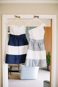 pretty striped bridesmaid dresses