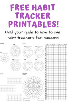 Grab these free printable habit trackers! Plus your guide on how to use habit trackers for success and ideas for what to track with a habit tracker! Planner Pages, Printable Planner, Planner Stickers, Goals Printable, Bullet Journal Habit Tracker Printable, Bullet Journal Printables, Free Printable Stickers, Templates Printable Free, Free Printables