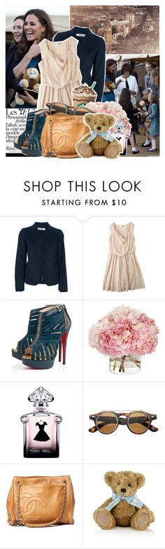 """Kate Middleton"" by allison-bellisario ❤ liked on Polyvore featuring INDIE HAIR, Chloé, Jil Sander, Christian Louboutin, Guerlain, Chanel and Harrods"