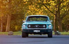 ford, mustang, 1967, fastback, in front of the sign