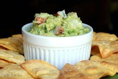Seafood Guacamole by circle-b-kitchen: Spicy, citrus-y guacamole studded with chunks of luscious shrimp and crab that's equally good as a dip with chips or on top of crostini as an awesome appetizer.  Exquisitely scrumptious.  #Guacamole #Seafood