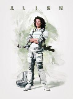POSTER Alien, el octavo pasajero. #Ripley #poster