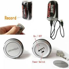 One of our newest products, A Coca-Cola Can Wireless Hidden Video Camera system features the smallest pinhole camera in the world. This unique video camera system will operate indoors or outdoors and view clearly down a street or throughout a room while recording all the action direct to its built-in 4GB DVR/Digital Video Recorder. Simply connect the Spy Can to any PC/Computer via USB cable to review footage. No drivers or software needed.