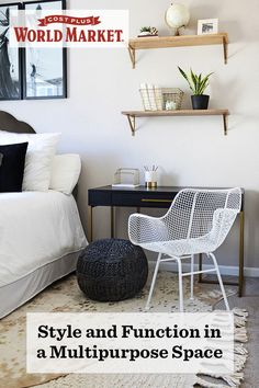 How do you get big functionality out of a small multipurpose room using decor, storage and furniture? Stephanie Cameron of Belle Amour Designs answers this eternal question with style. #WeKnowSmall