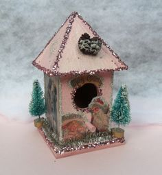 Victorian Christmas 'birdhouse,' by Joni Russell, Crystal Mist Cottages.