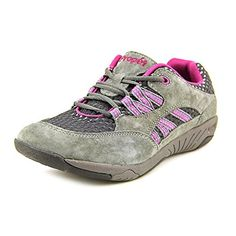 Propet Womens Leila FlatPewterBerry8 M US -- Learn more by visiting the image link.