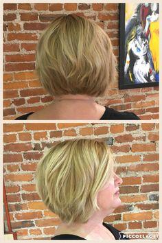 Blonde bob by Celeste, Master Stylist