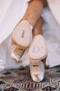 I Do shoe bling for the bride | Jen Fariello Photography on stylemepretty.com