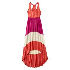 Mossimo Supply Co. Junior's Colorblock Racer Maxi Dress - Assorted Colors #summerdress