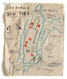 Oliver Jeffers map of new york
