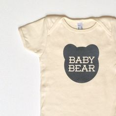 Hey, I found this really awesome Etsy listing at https://www.etsy.com/listing/194820029/organic-baby-bear-one-piece-romper