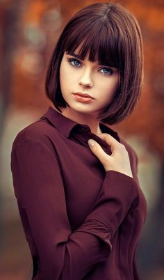 Good Looking Wedge Haircut For 2019 NALOADED is part of Hair cuts - Good Looking Wedge Haircut For 2019 Are searching for some hairdo and hairstyles thoughts that m Wedge Haircut, Bob Haircut With Bangs, Bob Hairstyles With Bangs, Short Hair Cuts, Short Hair Styles, How To Style Bangs, Photography Women, Face Photography, Photography Portraits