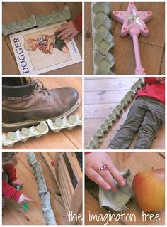Weighing and Measuring With Egg Cartons: Playful Maths - The Imagination Tree