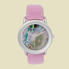 Stylish Watch – Let your glamorous side out with this small-face stainless steel and glitter strap watch. Customized the face with your designs and name and then choose a pink, silver, or red glitter strap for a watch that really shines! http://www.zazzle.com/designer_watch-256792519750115469